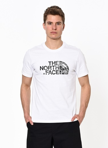 The North Face The North Face NF00A3G1LA91 M S/S Woodcut Dome T-Shirt Beyaz
